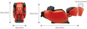 Fauteuil de massage Inada i12 HCP S878 11