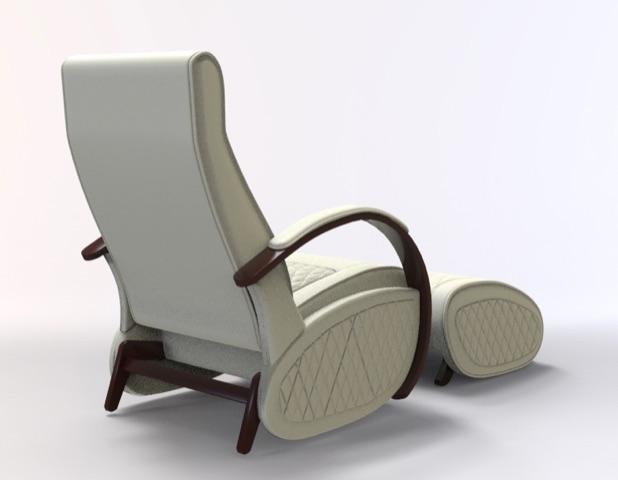 Fauteuil à bascule rocking chair + repose jambes Cristina 5