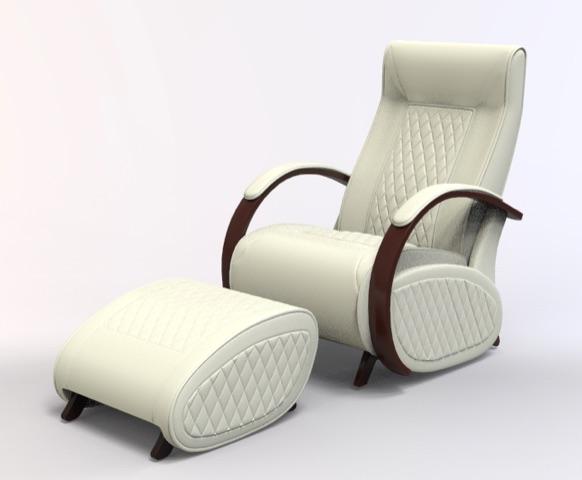 Fauteuil à bascule rocking chair + repose jambes Cristina 6