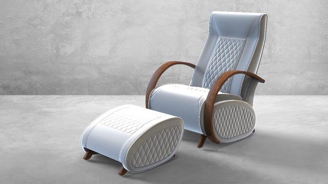 Fauteuil à bascule rocking chair + repose jambes Cristina 15