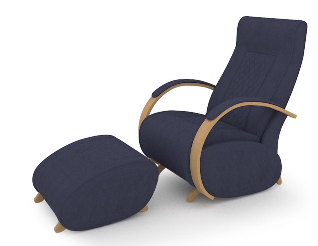 Fauteuil à bascule rocking chair + repose jambes Cristina 24