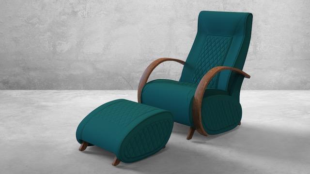 Fauteuil à bascule rocking chair + repose jambes Cristina 14