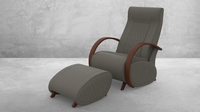 Fauteuil à bascule rocking chair + repose jambes Cristina 10