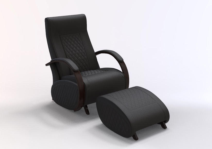 Fauteuil à bascule rocking chair + repose jambes Cristina 1