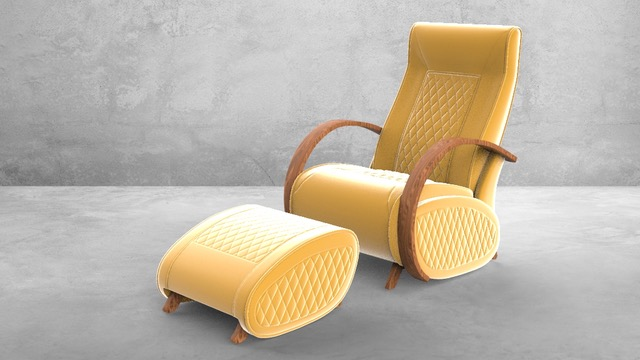 Fauteuil à bascule rocking chair + repose jambes Cristina 13