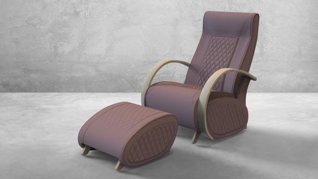 Fauteuil à bascule rocking chair + repose jambes Cristina 16