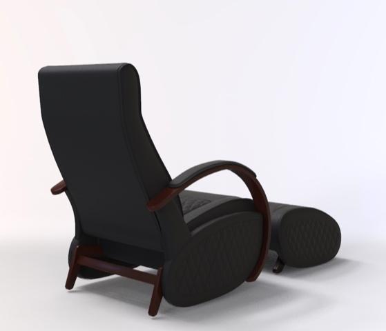 Fauteuil à bascule rocking chair + repose jambes Cristina 4
