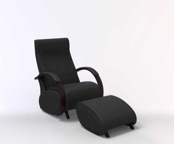 Fauteuil à bascule rocking chair + repose jambes Cristina 9