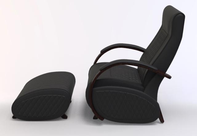 Fauteuil à bascule rocking chair + repose jambes Cristina 2