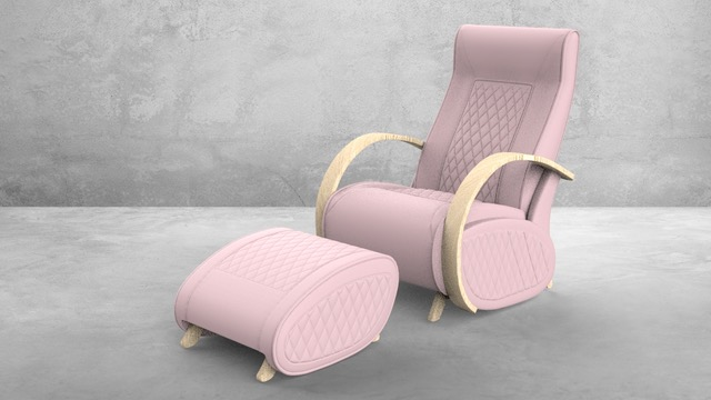Fauteuil à bascule rocking chair + repose jambes Cristina 11