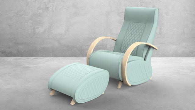 Fauteuil à bascule rocking chair + repose jambes Cristina 12